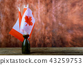 Flag of Canada on wood background 43259753