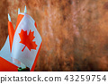 A close up of an Canadian flag abstract background 43259754