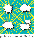 Set of Speech Bubbles 43260214