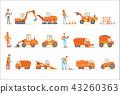 construction, site, truck 43260363