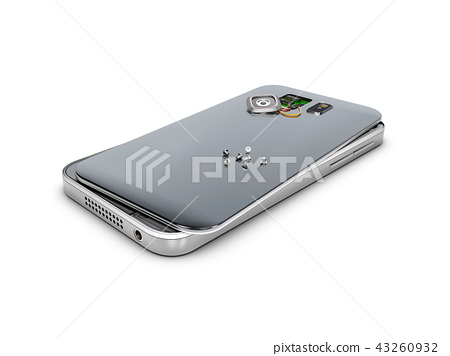 3d Illustration of Phone repair and service concept. isolated white 43260932