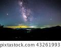 流星雨照片珀爾修斯流星雨和銀河系 43261993
