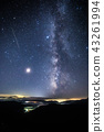 Meteor shower photo Perseus meteor shower and Milky Way and meteor 43261994