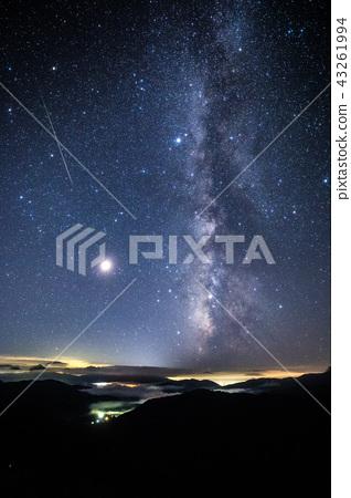 流星雨照片珀尔修斯流星雨和银河系 43261994