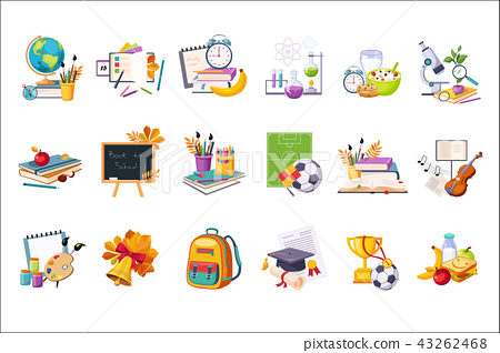 School And Eduction Related Sets Of Objects 43262468