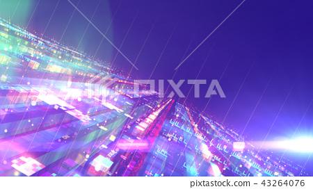Sci-fi multicolored space design structure 43264076