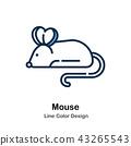 Mouse Line Line Color Icon 43265543