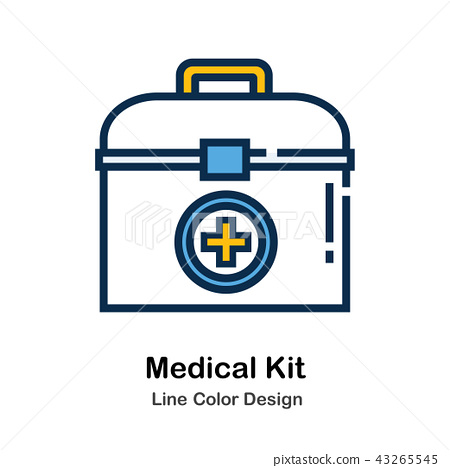 Medical Kit Line Color Icon 43265545