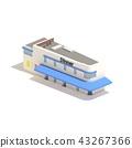 Flat 3d model isometric restaurant diner isolated  43267366