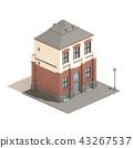 Flat 3d model isometric apartment english house 43267537