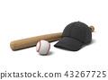 bat, baseball, hat 43267725