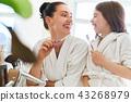 family, brush, bathroom 43268979