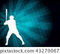 baseball player on the abstract background 43270067