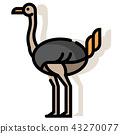 Ostrich LineColor illustration 43270077