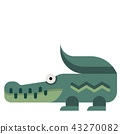 Crocodile flat illustration 43270082