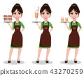 Young beautiful female barista in uniform 43270259