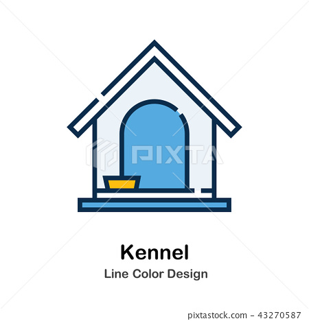Kennel Line Color Icon 43270587