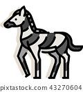 Zebra LineColor illustration 43270604