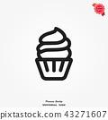 Cupcake icon vector 43271607