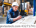 Portrait of a senior male warehouse worker or a supervisor. 43271741