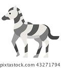 Zebra flat illustration 43271794