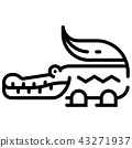 Crocodile Line illustration  43271937