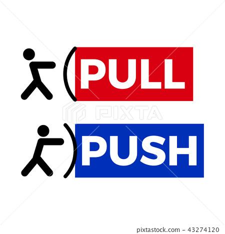 Pull push door sign 43274120