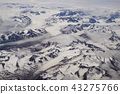 North American continent seen from the air near the border of Canada and the United States (Alaska) 43275766