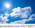 Midsummer blue sky 43276857