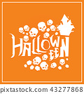 Halloween background design vector illustration 43277868