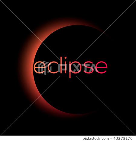 solar and lunar eclipse vector 43278170