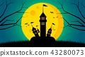 萬聖節 月亮 月 43280073