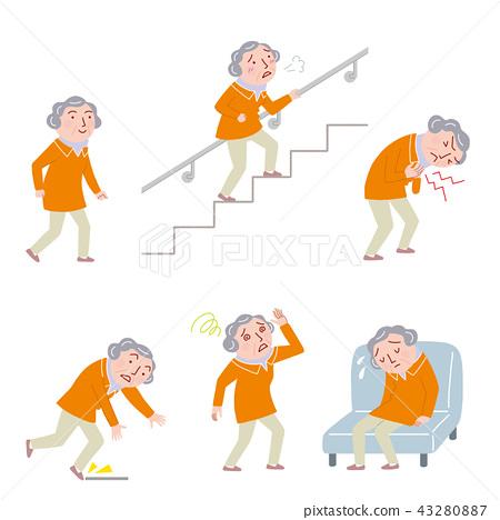 老年人的身體狀況 43280887