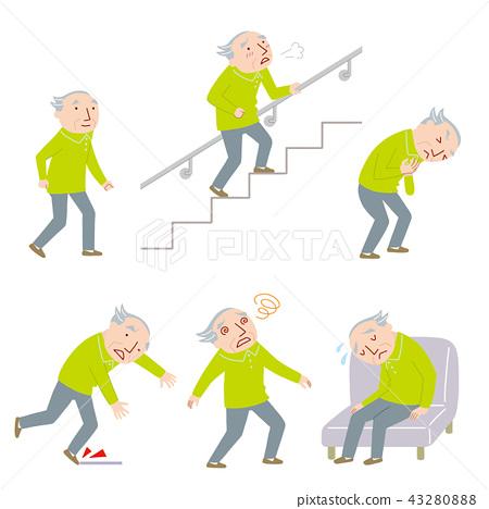 老年人的身體狀況 43280888