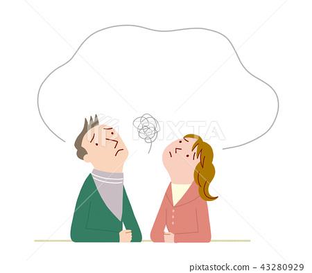 一對充滿焦慮的夫妻 43280929