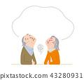 充滿焦慮的老年夫婦 43280931