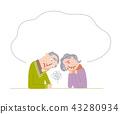 充滿焦慮的老年夫婦 43280934