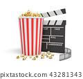 영화, 팝콘, 3d 43281343
