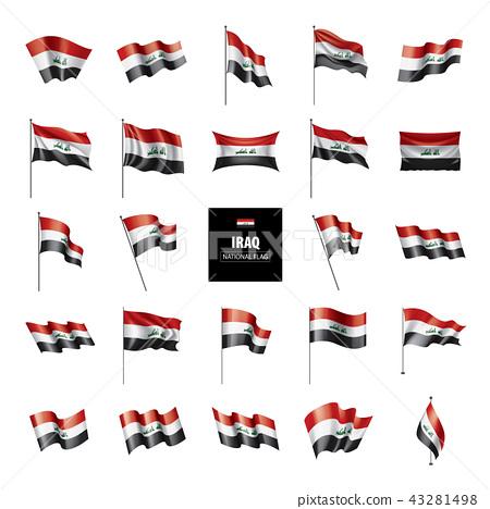 Iraqi flag, vector illustration on a white background 43281498