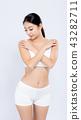 Portrait asian woman smiling beautiful body diet 43282711