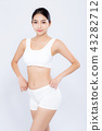 Portrait asian woman smiling beautiful body diet 43282712
