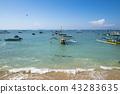 巴厘島沙努爾海灘印度尼西亞 43283635