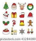 與線的聖誕節象 43284080