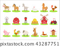 Farm Associated Animals And Objects Set 43287751