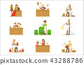 Artisan Craftsmanship Masters, Adult People And Craft Hobbies And Professions Set Of Vector 43288786