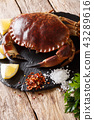 Raw brown crab with ingredients for cooking 43289616