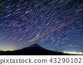 모토스 · 竜ヶ岳에서 바라 보는 밤하늘과 후지산 43290102
