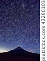 모토스 · 竜ヶ岳에서 바라 보는 밤하늘과 후지산 43290103