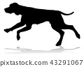 Dog Silhouette Pet Animal 43291067