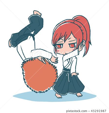 In Aikido, girls meet boys 43291987